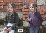 King Cole 3979 Knitting Pattern Cardigans in King Cole Big Value Aran