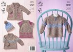 King Cole 3974 Knitting Pattern Baby Set in King Cole Comfort Aran