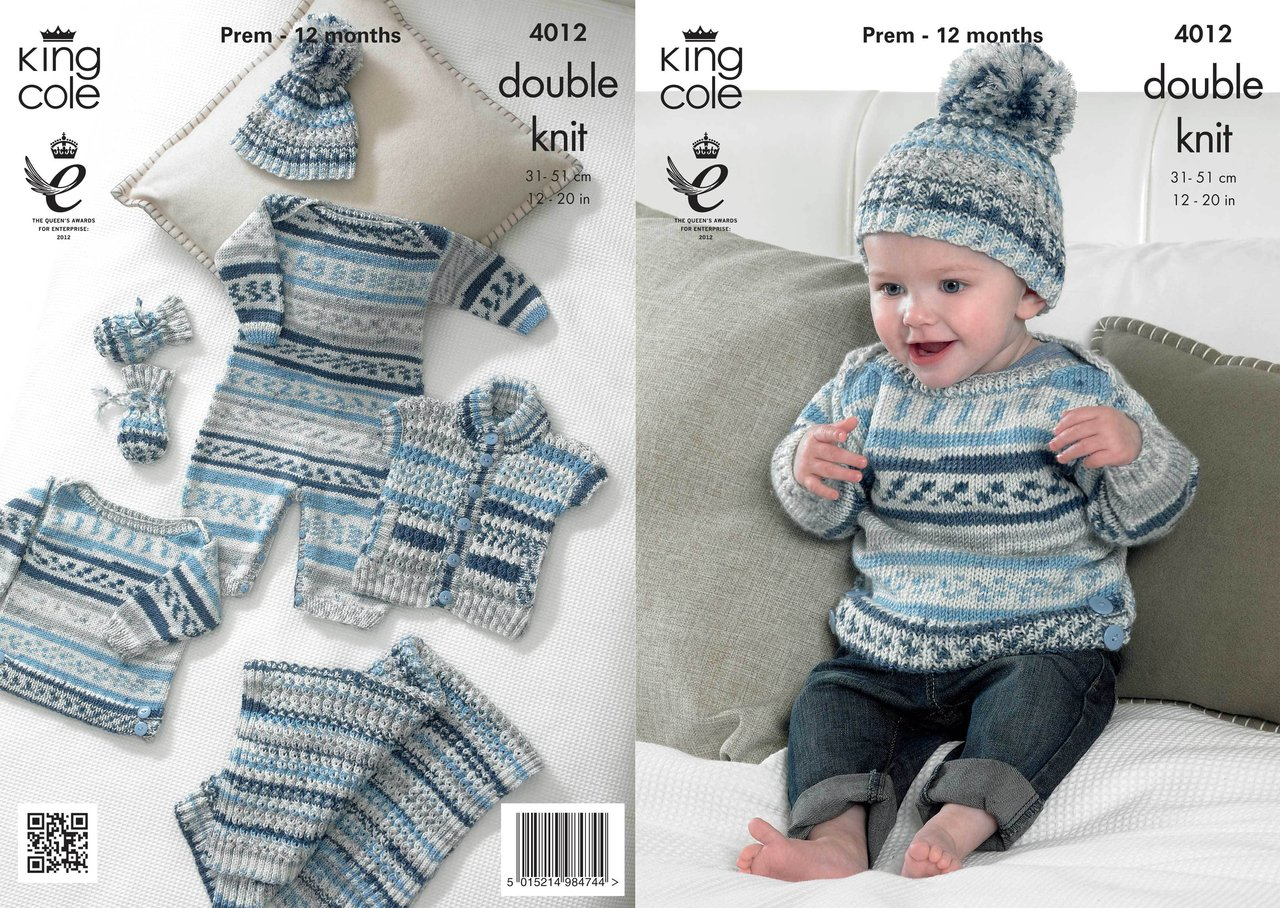 King cole 4012 knitting pattern baby set in king cole cherish dk king cole 4012 knitting pattern baby set in king cole cherish dk bankloansurffo Gallery