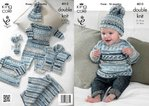 King Cole 4012 Knitting Pattern Baby Set in King Cole Cherish DK