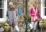 King Cole 4013 Knitting Pattern Coat, Tunic, Scarf and Hat in King Cole Masham DK
