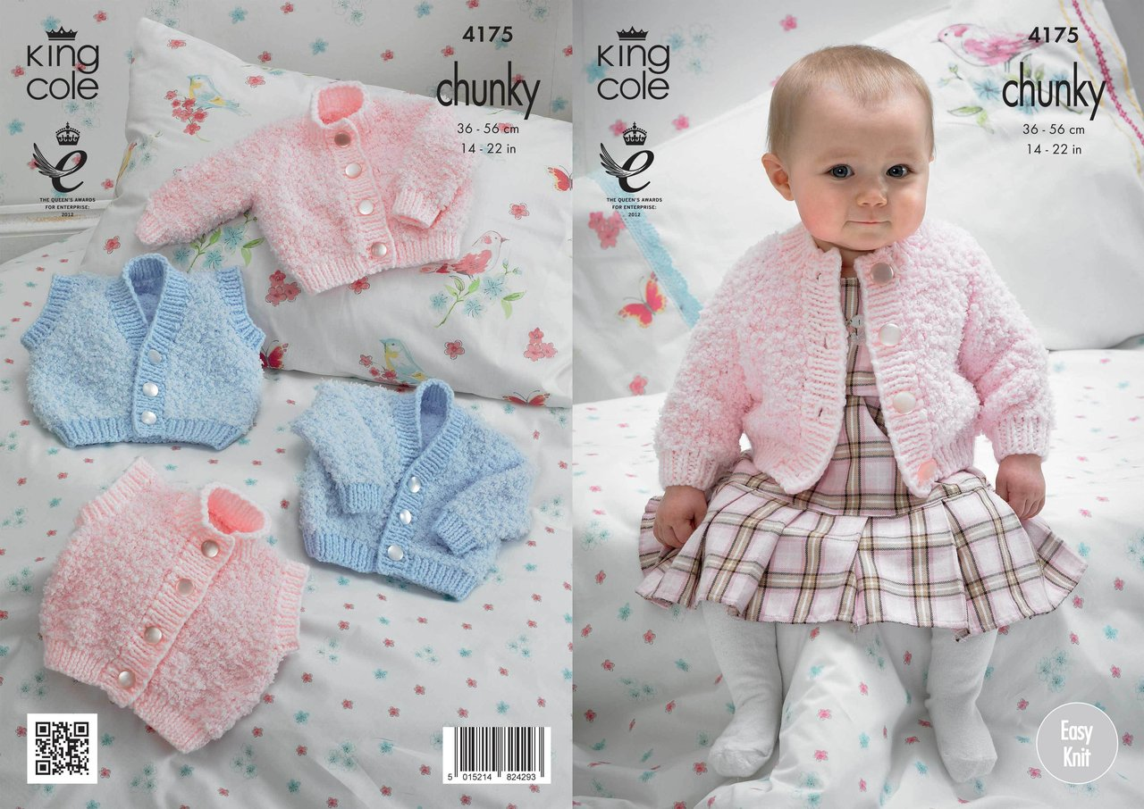 King Cole 4175 Knitting Pattern Cardigans And Waistcoats