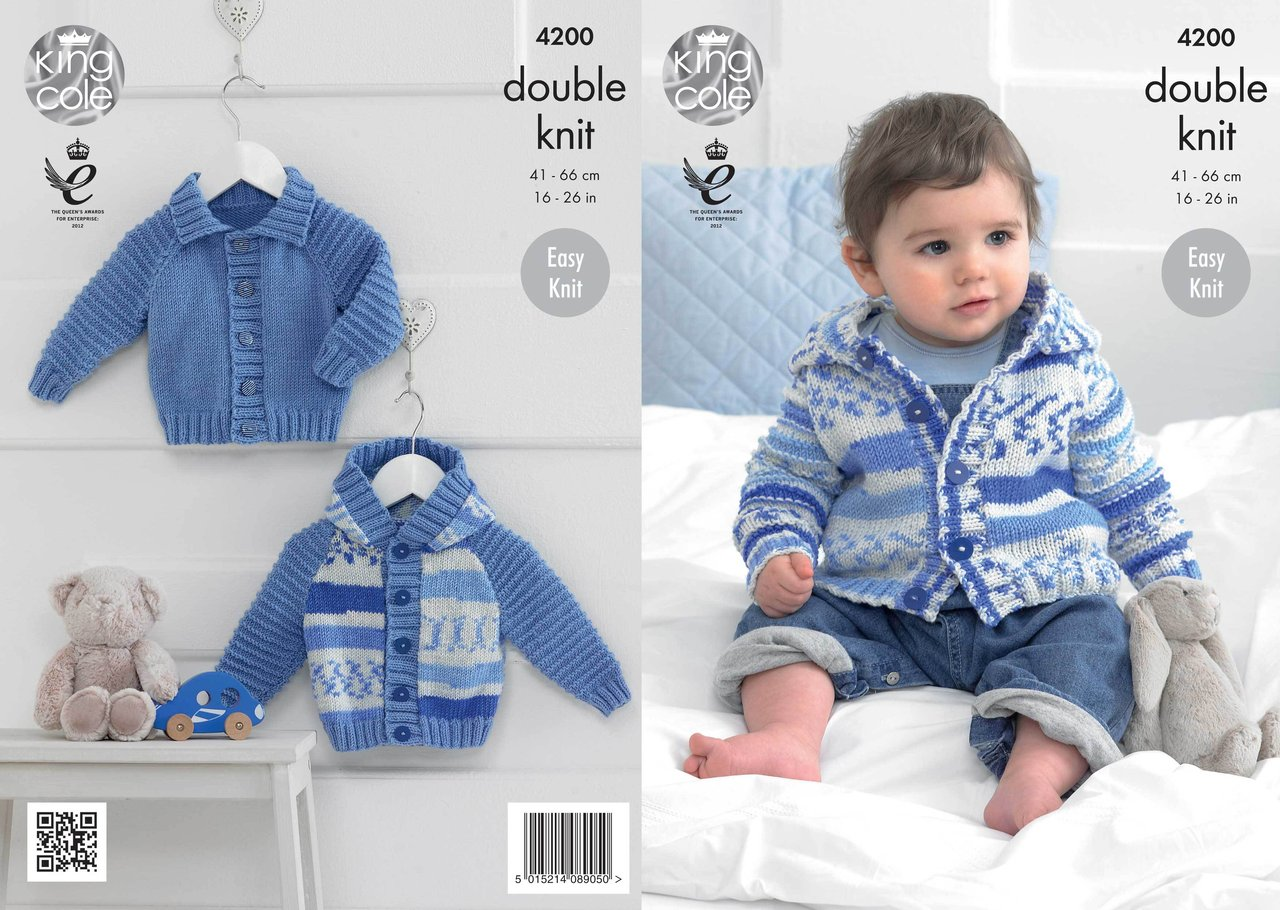 King Cole 4200 Knitting Pattern Cardigans in King Cole Cherish and Cherished ...