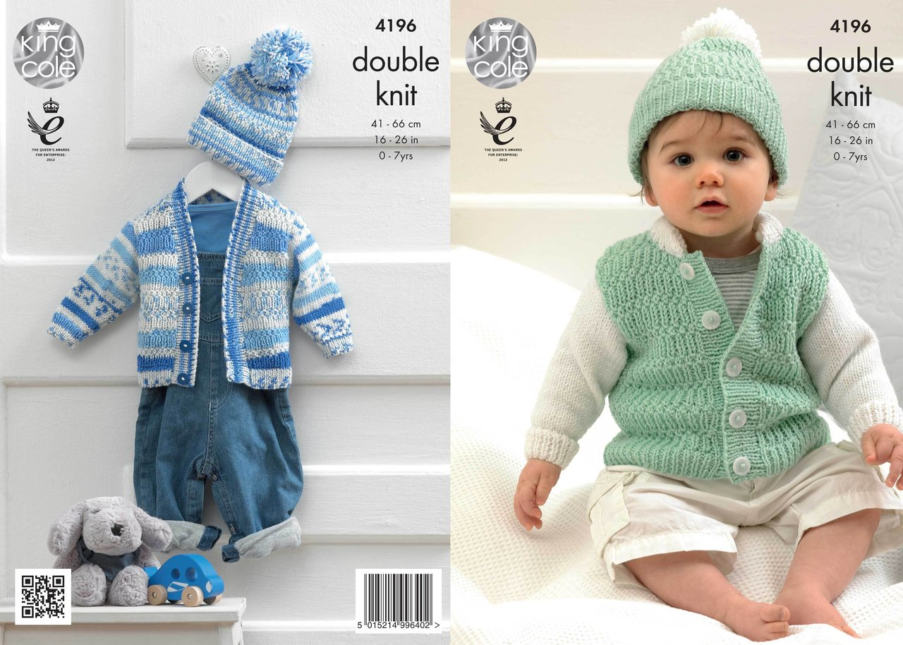 King Cole 4196 Knitting Pattern Cardigans and Hat in King ...