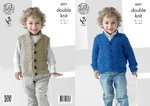 King Cole 4221 Knitting Pattern Boys Waistcoat and Cardigan in King Cole Big Value Baby DK