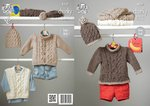 King Cole 4227 Knitting Pattern Sweaters, Jacket and Hats in King Cole Comfort Chunky