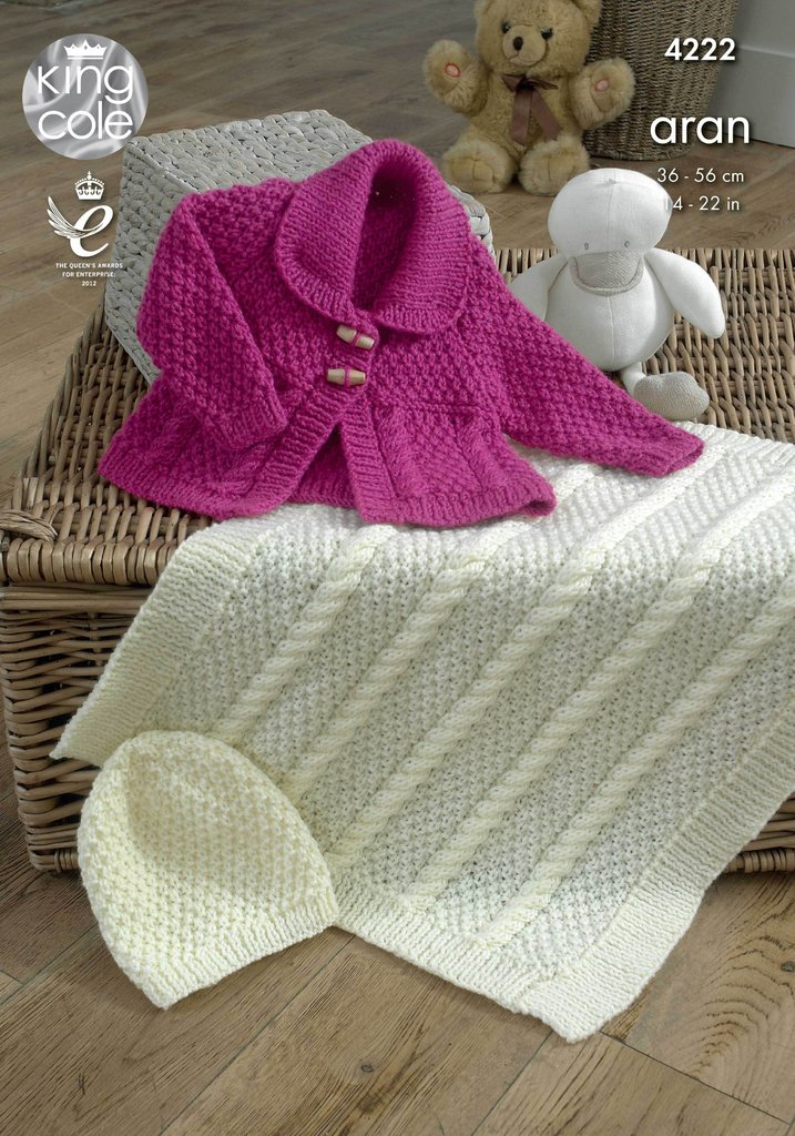 King Cole 4222 Knitting Pattern Jacket, Blanket and Hat in ...