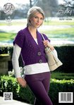King Cole 4277 Knitting Pattern Waistcoat and Sweater in King Cole Magnum Chunky
