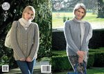 King Cole 4276 Knitting Pattern Raglan Cardigan and Sweater in King Cole Magnum Chunky
