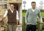 King Cole 4273 Knitting Pattern Mens Cardigan and Waistcoat in Panache DK