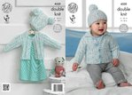 King Cole 4320 Knitting Pattern Children's Cardigans and Hats in King Cole Smarty DK