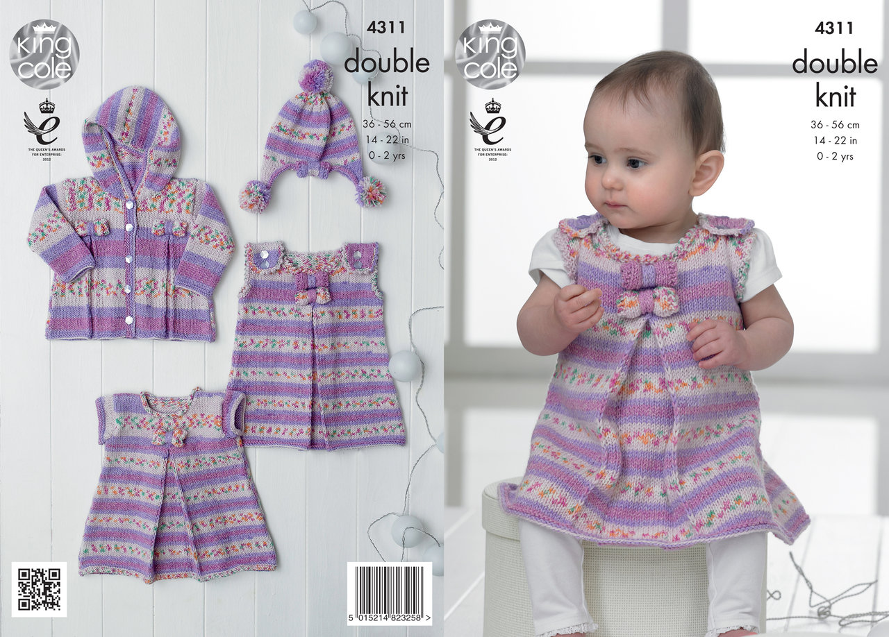 King cole 4311 knitting pattern baby set for girl in king cole king cole 4311 knitting pattern baby set for girl in king cole drifter dk bankloansurffo Choice Image