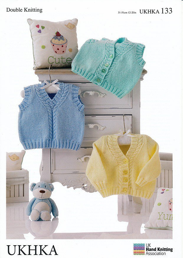 Ukhka Knitting Patterns : Ukhka knitting pattern baby cardigan waistcoat and