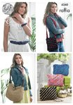 King Cole 4340 Knitting Pattern Belt, Bracelet, Bags and Purses in King Cole Raffia