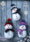 King Cole 9030 Knitting Pattern Tinsel Snowman in King Cole Tinsel Chunky