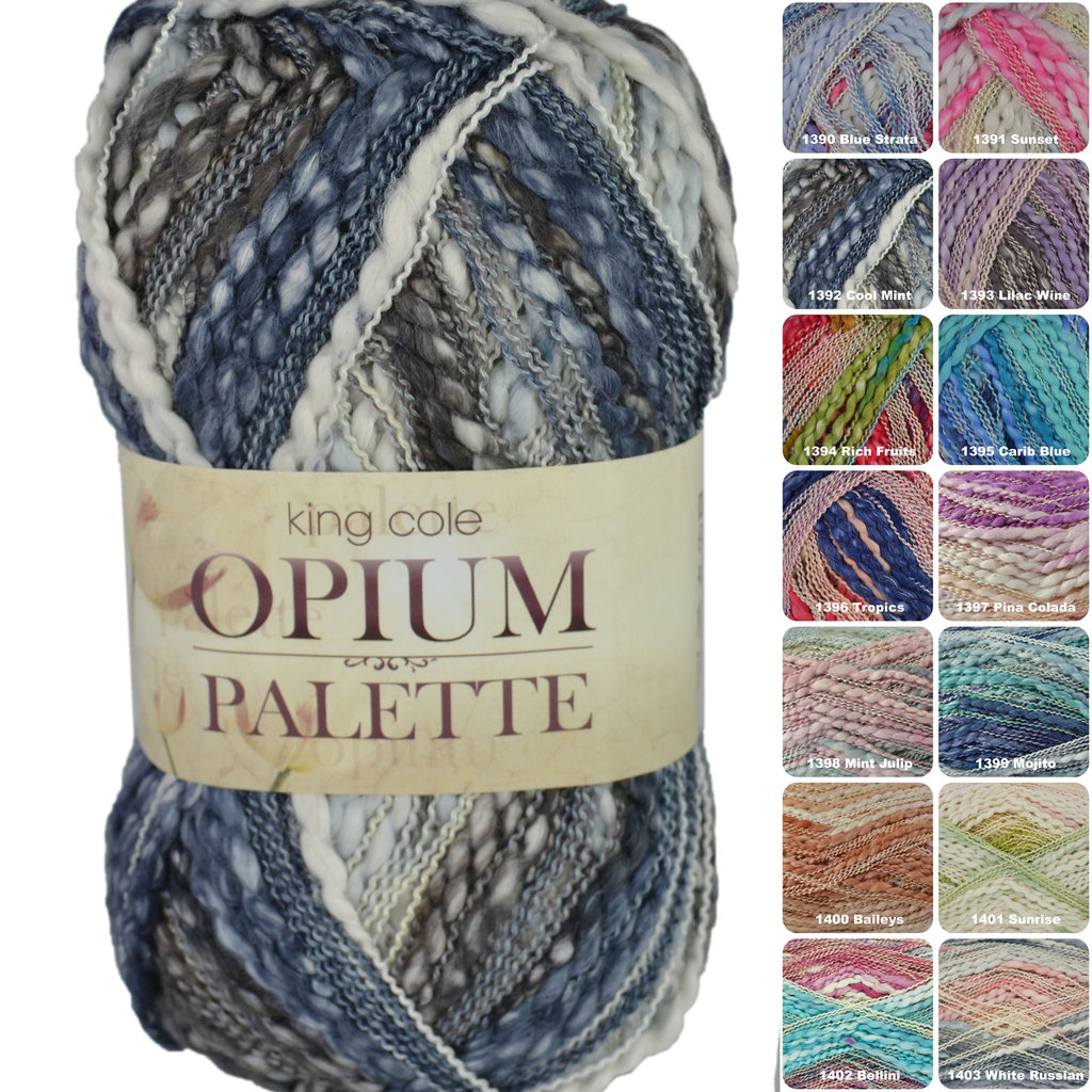 King Cole Opium Palette Knitting Yarn Athenbys