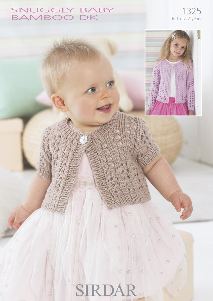 Sirdar Knitting Patterns For Children : Sirdar 1325 Knitting Pattern Baby Cardigans in Sirdar Snuggly Baby Bamboo DK ...