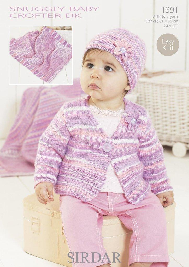 Knitting Patterns For Baby Blankets Sirdar : Sirdar knitting pattern cardigan hat blanket in