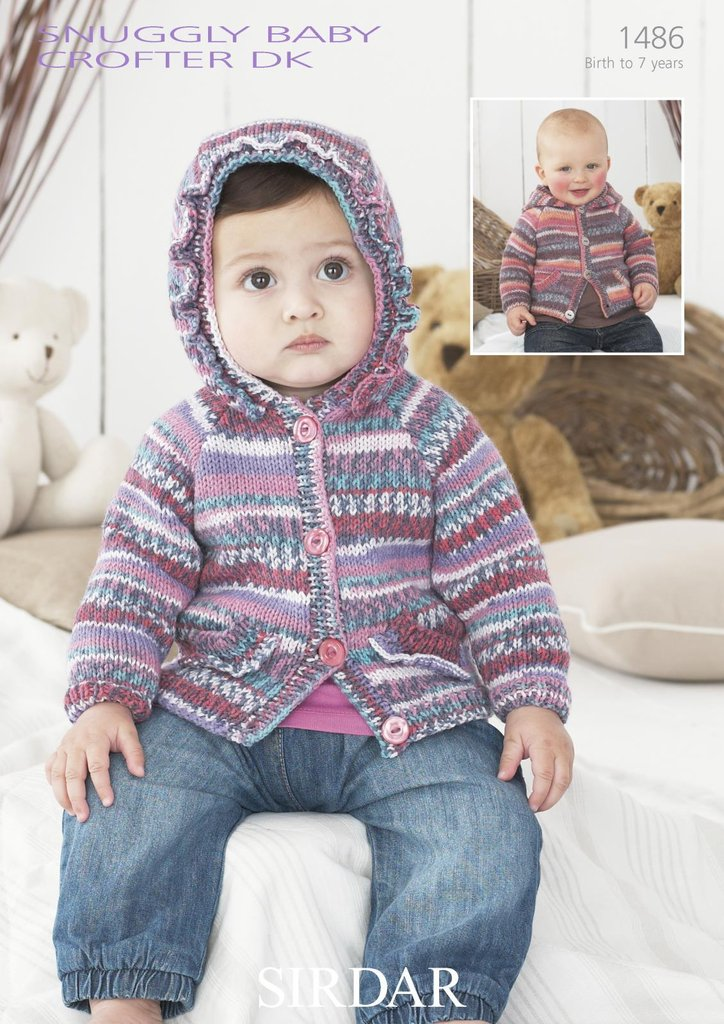 Sirdar 1486 Knitting Pattern Hooded Cardigans In Sirdar ...