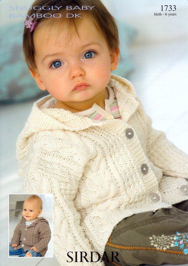 0b904577948a Sirdar 1733 Knitting Pattern Coat in Sirdar Snuggly Baby Bamboo DK ...