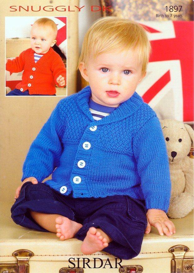 0ffcb4d37 Sirdar 1897 Knitting Pattern Cardigans in Sirdar Snuggly DK - Athenbys