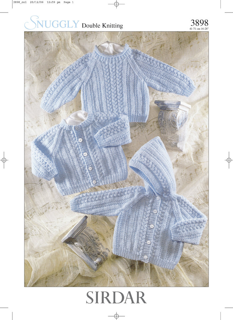 Sirdar 3898 Knitting Pattern Cardigan Jacket And Sweater