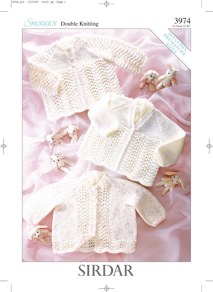 Sirdar 3974 Knitting Pattern Matinee Coats In Sirdar
