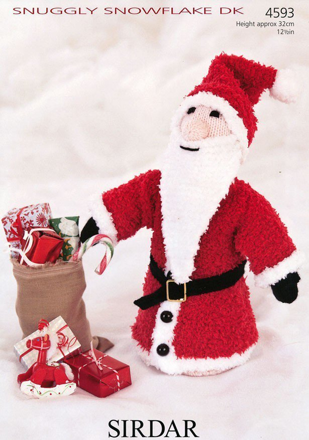 Sirdar Knitting Patterns Toys : Sirdar 4593 Knitting Pattern Father Christmas Toy in ...