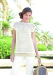 Sirdar 7305 Crochet Pattern Womens Top in Sirdar Cotton 4 ply