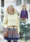 Sirdar 7342 Knitting Pattern Round Neck & Collared Cardigans in Wash 'n' Wear Double Crepe DK