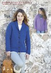 Sirdar 7381 Knitting Pattern Womens V Neck and Shawl Collared Cardigan in Hayfield Chunky with Wool