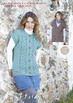 Sirdar 7382 Knitting Pattern Womens Round Neck and V Neck Gilets in Hayfield Chunky with Wool