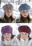 Sirdar 9060 Knitting Pattern Childrens Adults Beret and Hats in Sirdar Click Chunky