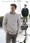 Sirdar 9434 Knitting Pattern Mens Sweaters in Sirdar Country Style DK