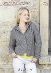 Sirdar 9702 Knitting Pattern Womens Hoodie in Hayfield Chunky With Wool