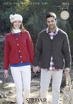 Sirdar 9613 Knitting Pattern Mens Womens Easy Knit Cardigans in Sirdar Country Style DK