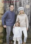Sirdar 9701 Knitting Pattern Easy Knit Family Sweaters in Hayfield Chunky With Wool