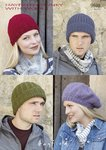 Sirdar 9698 Knitting Pattern Hats in Hayfield Chunky With Wool