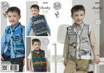 King Cole 4243 Knitting Pattern Slipovers and Waistcoats in King Cole Big Value Multi Chunky