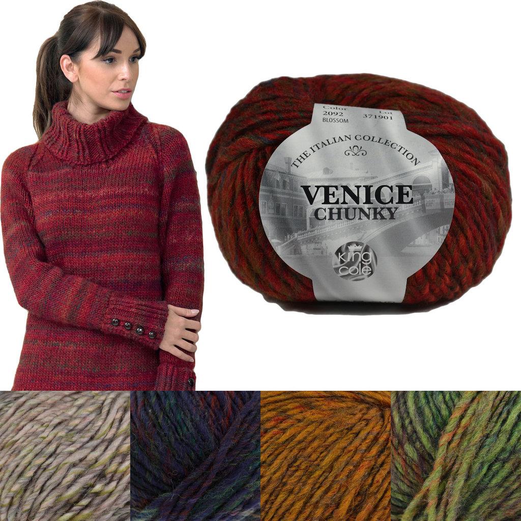 King Cole Venice Chunky Alpaca Wool Blend Knitting Yarn
