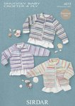 Sirdar 4619 Knitting Pattern Cardigans in Sirdar Snuggly Baby Crofter 4 Ply