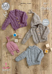 King Cole 4351 Knitting Pattern Sweater, Hoodie, V-Necked Cardigan and Hat in Magnum Chunky