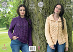 King Cole 4361 Knitting Pattern Cardigan and Sweater in Big Value Super Chunky