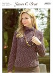 James C Brett JB332 Knitting Pattern Ladies Sweater and Hat in Flutterby Animal Prints
