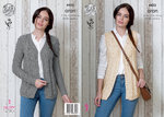 King Cole 4432 Knitting Pattern Waistcoat and Cardigan in King Cole Big Value Aran