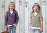King Cole 4434 Knitting Pattern Cardigans in King Cole Big Value Aran