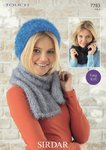 Sirdar 7783 Knitting Pattern Easy Knit Ladies Hat, Scarf and Snood in Sirdar Touch