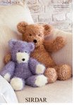 Sirdar 2466 Knitting Pattern Toy Bears in Sirdar Touch