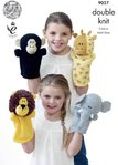 King Cole 9027 Knitting Pattern Larry The Lion and Friends Hand Puppets in Pricewise DK