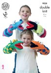 King Cole 9028 Knitting Pattern Quirky Hand Puppets in Pricewise DK